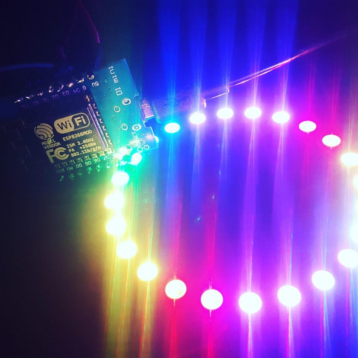 RGB NEOPIXEL RING + Wemos D1 Mini – Light Notification Panel